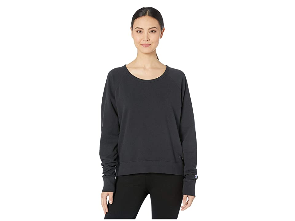 Champion Vintage Dye Fleece Crew (Black) Women
