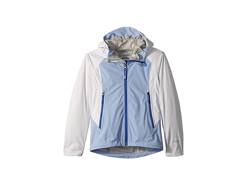 The North Face Kids Allproof Stretch Jacket (Little Kids/Big Kids) (TNF White/Collar Blue/Dazzling Blue) Girl