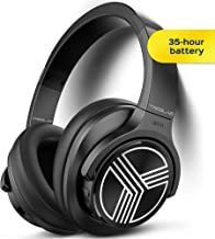 TREBLAB Z2   Over Ear Workout Headphones with Microphone   Bluetooth 5.0, Active Noise Cancelling (ANC)   Up to 35H Battery Life   Wireless Headphones for Sport, Workout, Running, Gym (Black)