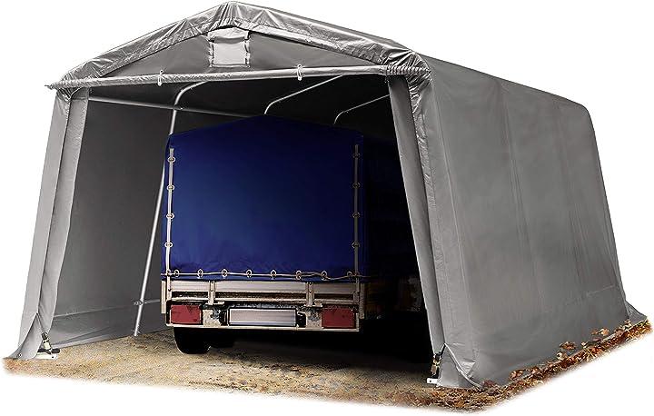 Tendone garage premium 3,3 x 4,8 m grigio con telo  toolport B07CP49VM2