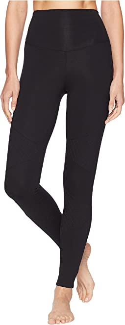 Compact Cotton Quilted Moto Leggings