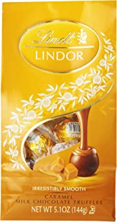 Lindt LINDOR Caramel Milk Chocolate Truffles, Kosher, 5.1 Ounce