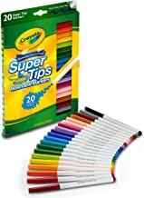 CRAYOLA 58-8106 Washable SuperTips Markers, 20 Vibrant Colours, Storage Box is Deal for The Classroom or Drawing at Home. ...