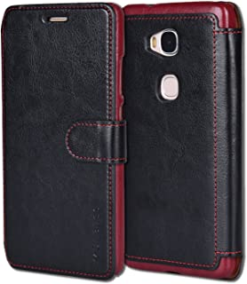 Huawei Honor 5X Case,Mulbess Huawei Honor 5X Wallet Case [Black] - [Ultra Slim][Layered Dandy] - PU Leather Flip Cover with Credit Card Slot for Huawei Honor 5X