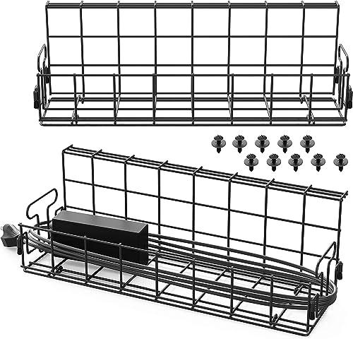 wholesale SHW Under Desk Cable Management Wire Tray sale Organizer, (Set sale of 2) online
