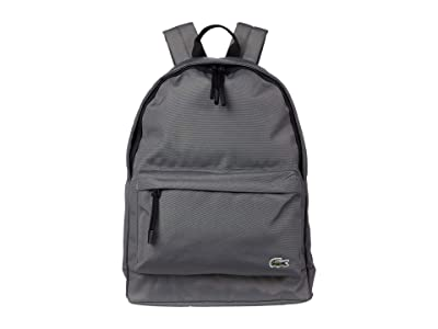 Lacoste Backpack (White/Cement/Shale Grey/Ladybird) Backpack Bags