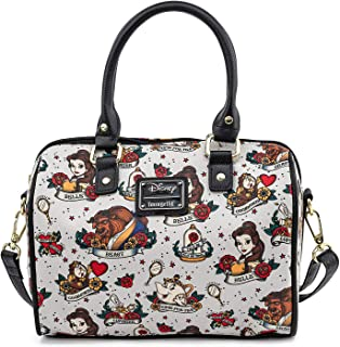 Beauty and the Beast Belle and Characters All Over Print Tattoo Art Handbag Purse