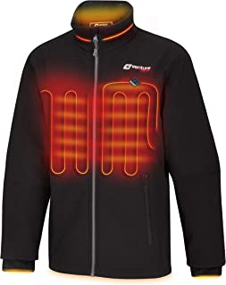 Venture Heat Women`s Softshell Heated Jacket with Battery Pack - Windproof Electric Coat Outerwear, Outlast 2.0