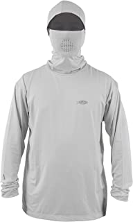 Fish Ninja Ultra Performance Long Sleeve Shirt w/Hood - Gray Heather - Small