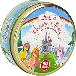 CocoMoco Unicorn and Pony Puzzle for Toddlers and Preschoolers 30 pieces- Educational Learning Toys and Montessori Toys- B...