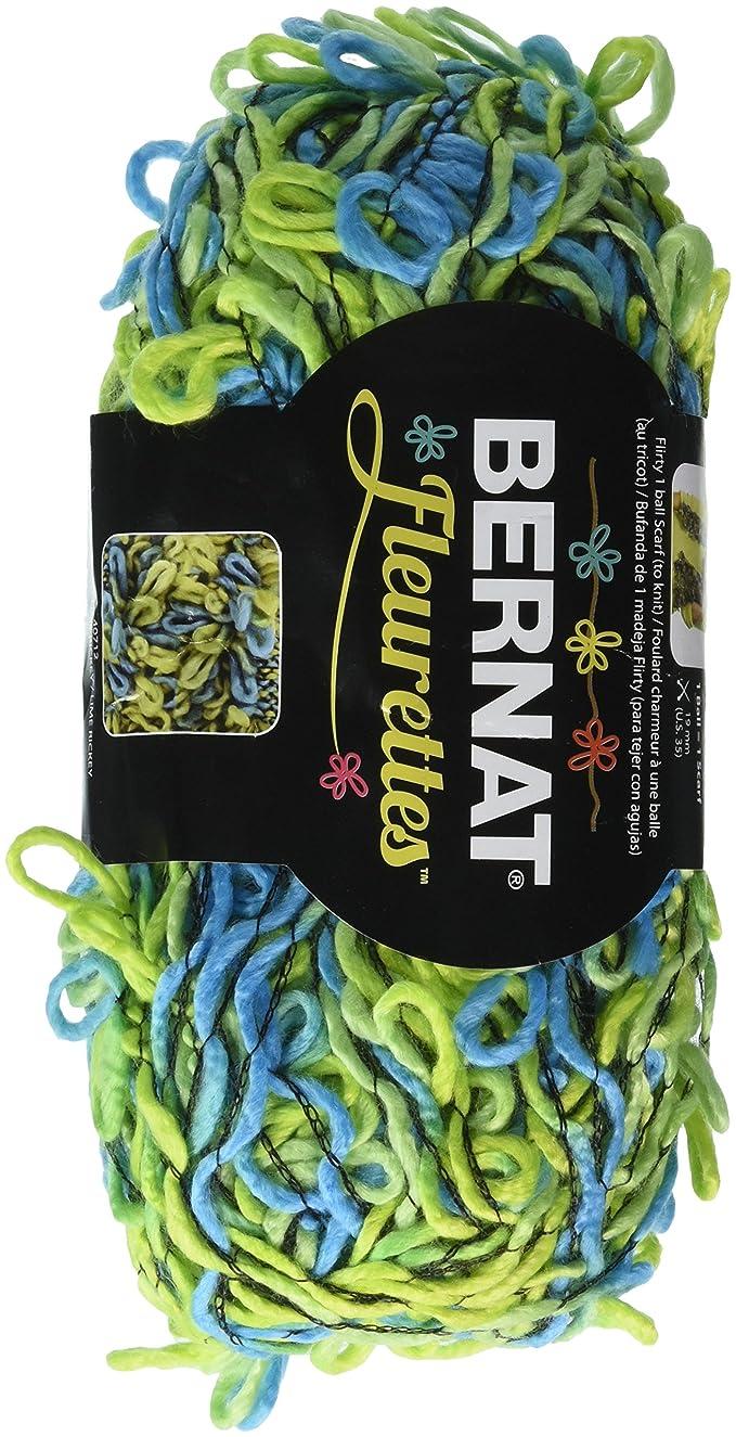 Spinrite Fleurettes Yarn, Lime Rickey