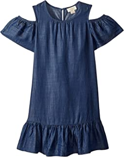 Chambray Cut Out Dress (Little Kids/Big Kids)