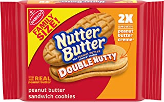Nutter Butter Double Nutty Peanut Butter Sandwich Cookies, 1 Pack (15.27 Oz.), 1Count