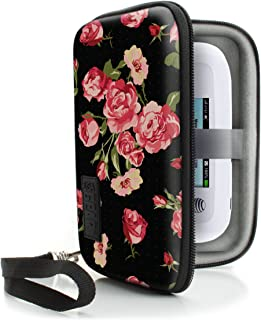 USA Gear Portable WiFi Hotspot for Travel Carrying Case with Wrist Strap - Compatible with 4G LTE Wi-Fi Mobile Hotspots from Verizon, Velocity, Skyroam Solis, GlocalMe, Netgear, and More - Floral
