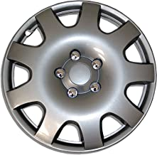 TuningPros WSC-502S15 Hubcaps Wheel Skin Cover 15-Inches Silver Set of 4