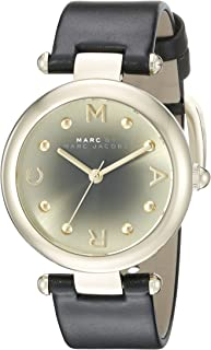 Marc Jacobs Womens Quartz Watch, Analog Display and Leather Strap MJ1409