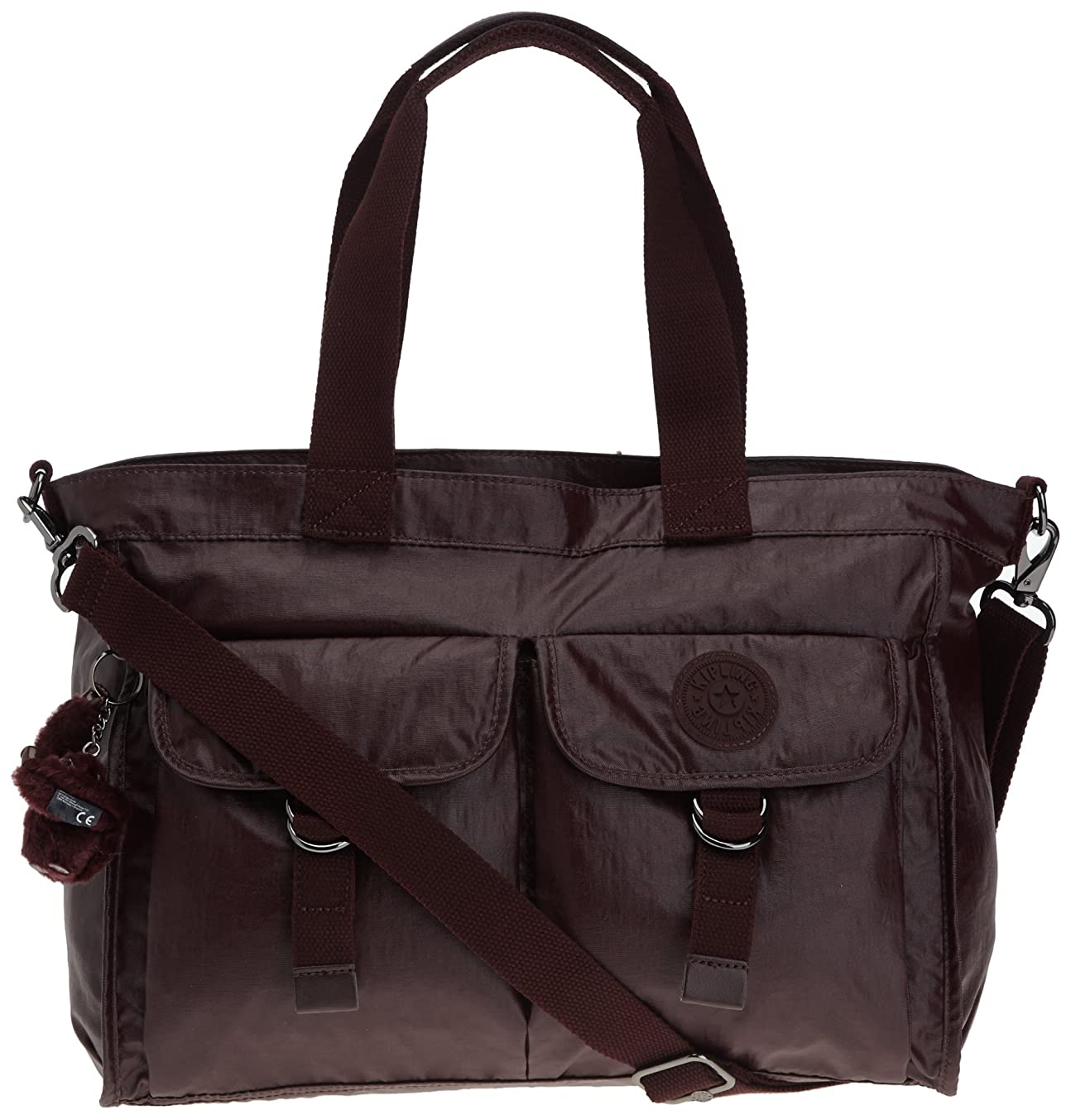 測定可能触覚広げる(Wine Red Lacq) - Kipling Women's Elise Shoulder Bag