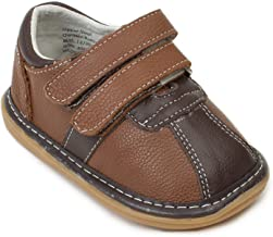 Wee Squeak Two-Tone Brown Toddler Squeaky Shoe