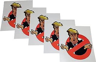 Set of 5 Anti-Trump Political Bumper Stickers. Funny Donald Trump 2020 Election