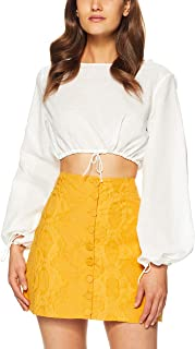 THIRD FORM Women's Straight Out Blouse, White