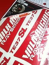 Te37sl Volk Racing Decal Sticker - Red