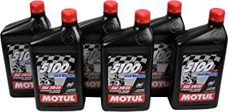 Motul 108083 Synthetic Blend Ester Motor Oil 5100 5W30 ATV 1L/1.05 Quarts Can (6)