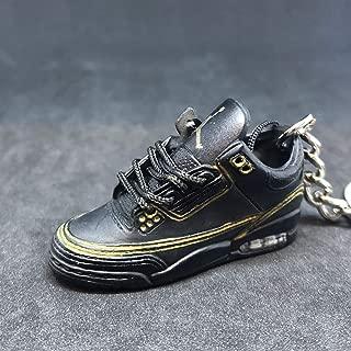 Air jordan III 3 Retro Black Cement 88 OG Sneakers Shoes 3D Keychain