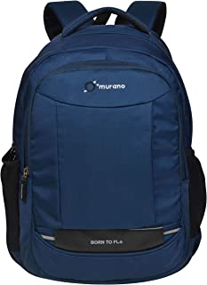 Murano Striker 15.6 Inch Polyester Laptop Backpack for Men Women and 26 LTR Water Resistance Backpack- Navy Blue