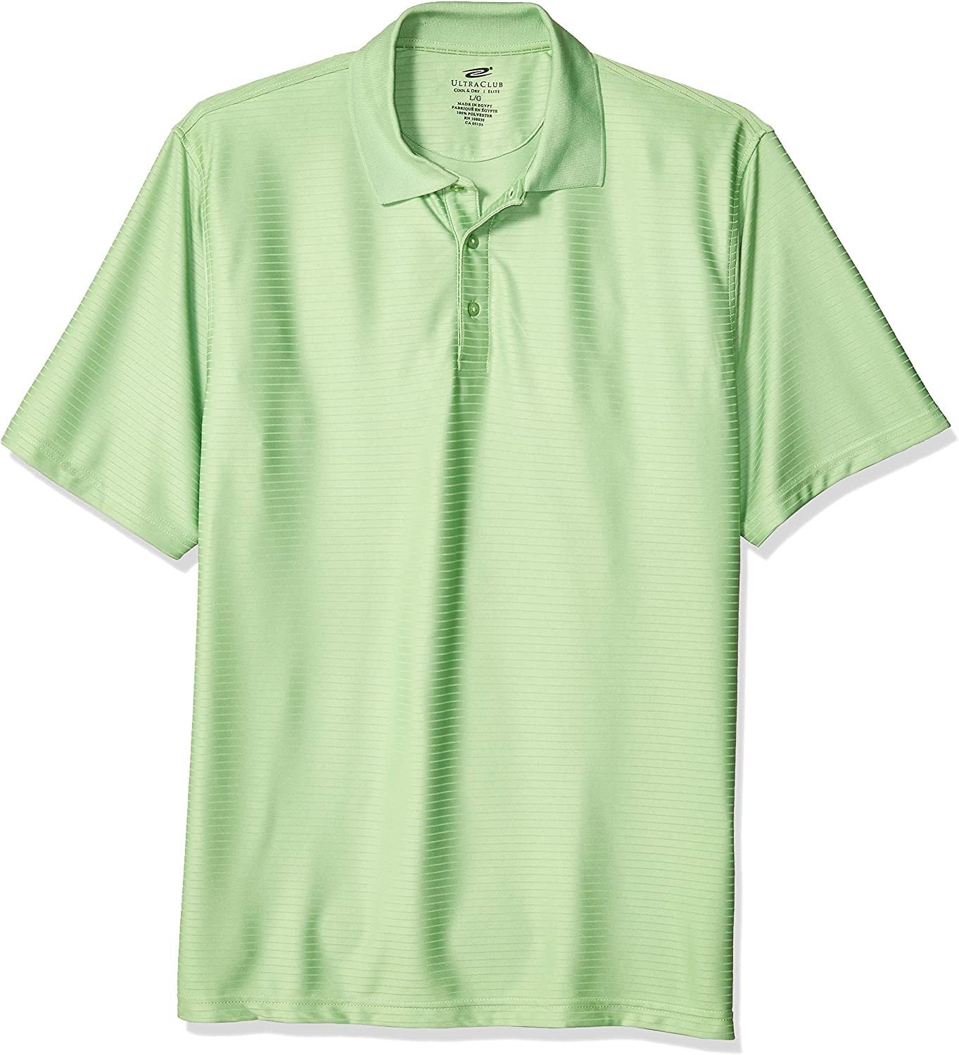 UltraClubs Men's Cool Outlet ☆ Free Shipping Discount is also underway Dry Elite Tonal Performance Stripe Polo