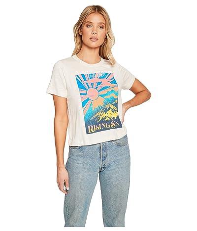 Chaser Rising Sun Linen Jersey Short Sleeve Tee (Au Lait) Women