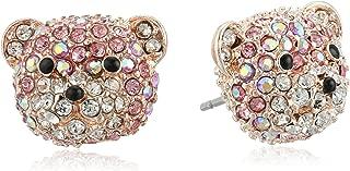 Women's Pave Bear Stud Earrings