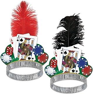 Beistle 66865-50 50-Pack Casino Night Tiaras