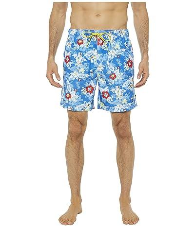 Nautica 8 Floral Print Quick-Dry Swim (Blue) Men