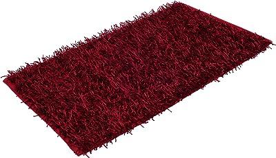 Gözze Shaggy 1012-37-7 Deep-Pile Rug 50 x 70 cm Ökotex Metallic Red