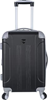 Travelers Club Luggage Dual-Tone Spinner Carry-on Luggage Black