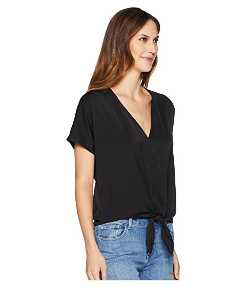 Lucky Brand Tie Front Top Lucky Black Authentic Cheap Price Sale Brand New Unisex Aaa Quality 3cg9X