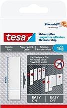 tesa Adhesive Strips for Wallpaper & Plaster 1 kg, wit