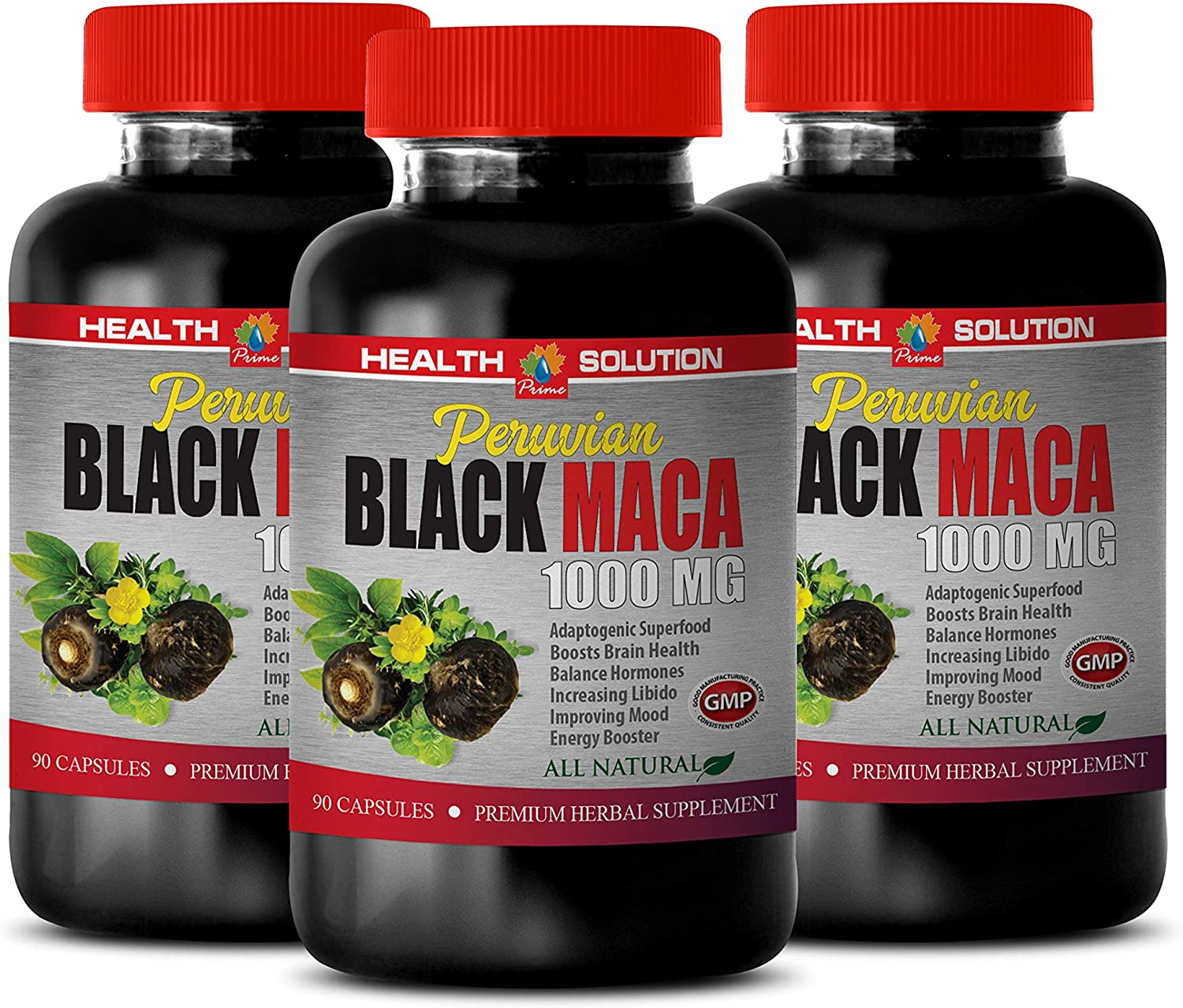Male Energy Supplements - Peruvian 1000MG Weekly Quality inspection update Natur MACA All Black