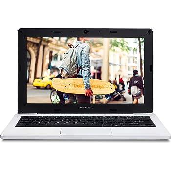 """MEDION Notebook Education E11201 - Ordenador portátil de 11,6"""" HD (Intel Celeron N3450, 4GB de RAM, 64GB eMMC, Intel HD Graphics, Windows 10 Pro Academic) Color Blanco - Teclado Qwerty Español"""
