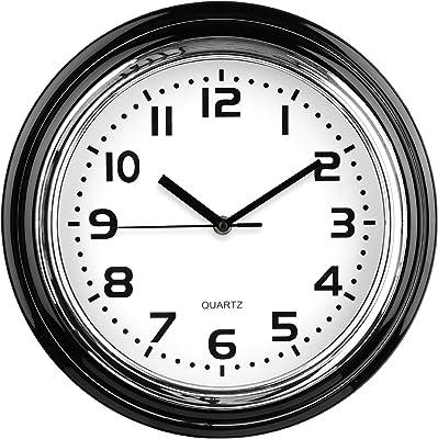 Premier Housewares Round Wall Clock - Chrome