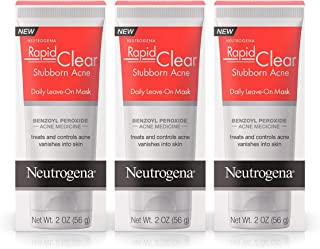 Neutrogena Rapid Clear Stubborn Acne Daily Leave-On Mask, 2 Oz (Pack of 3)