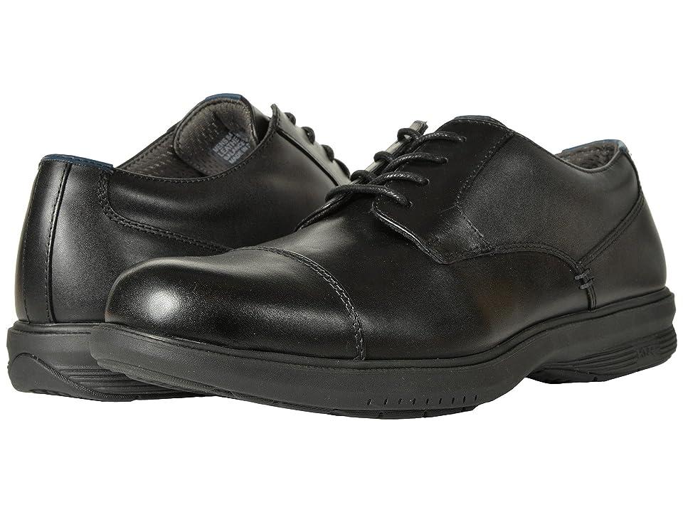 Nunn Bush Melvin Street Cap Toe Oxford with KORE Slip Resistant Walking Comfort Technology (Black) Men