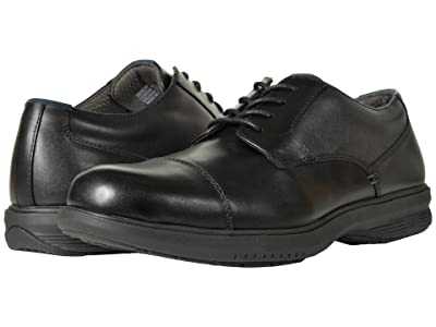 Nunn Bush Melvin Street Cap Toe Oxford with KORE Slip Resistant Walking Comfort Technology (Black) Men