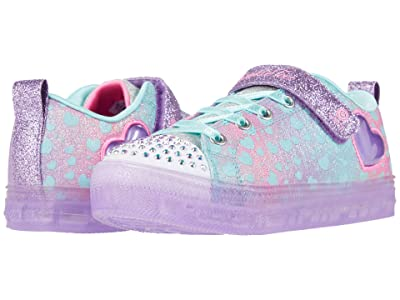 SKECHERS KIDS Twinkle Toes Shuffle Brights Heartbursts 314255L (Little Kid) (Lavender/Multi) Girl
