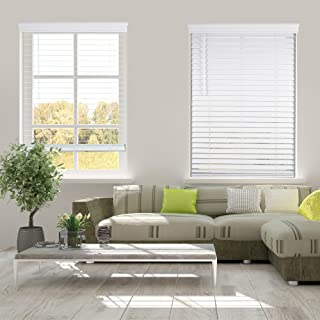 Arlo Blinds Cordless 2 Inch Faux Wood Horizontal Blinds - Size: 34