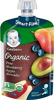Gerber Organic 2nd Foods Baby Food, Pears, Blueberries, Apples & Avocado, 3.5 Ounces (Pack of 12)
