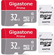 Gigastone 32GB 2-Pack Micro SD Card with Adapter, U1 C10 Class 10 90MB/S, Full HD available, Micro SDHC UHS-I Memory Card