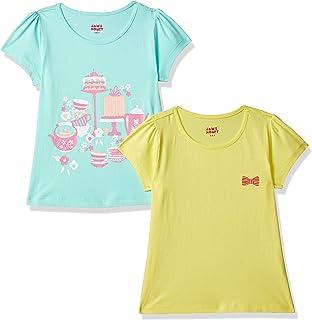 Amazon Brand - Jam & Honey Girl's Tribal Regular fit Cotton T-Shirt (Combo Pack of 2) (SS19KGP02TEE205_Multicolor_2-3 Years)