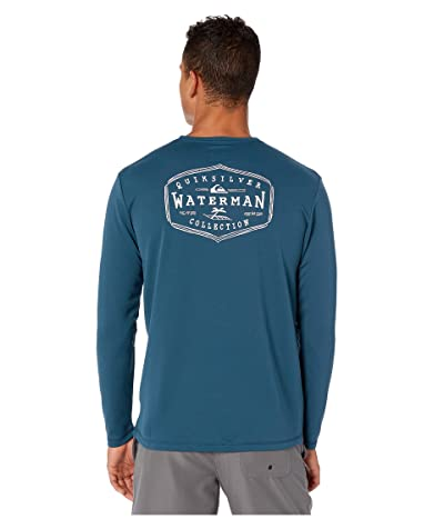 Quiksilver Waterman Gut Check Long Sleeve UPF Surf Tee (Majolica Blue) Men
