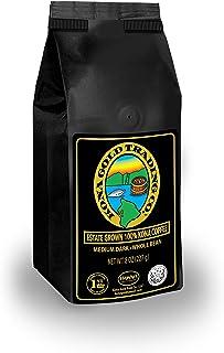 Kona Gold Coffee Whole Beans - 8 oz, by Kona Gold Rum Co. - Medium/Dark Roast Extra Fancy - 100% Kona Coffee